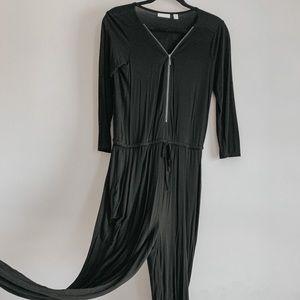 New York & Co Zip Jumpsuit Small Jumpsuit Black